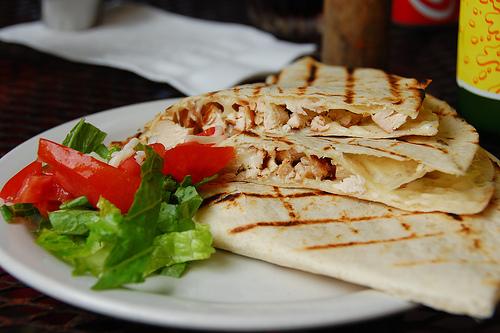 Chicken quesadillas