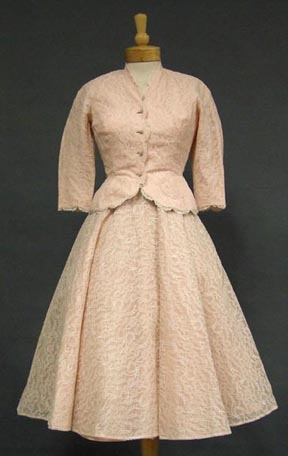 Pink Lace 1950 with matching jacket $180