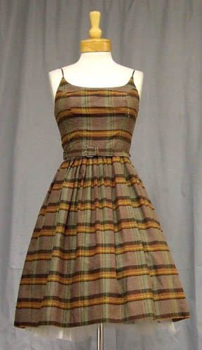Plaid cotton 1950 sun dress $95
